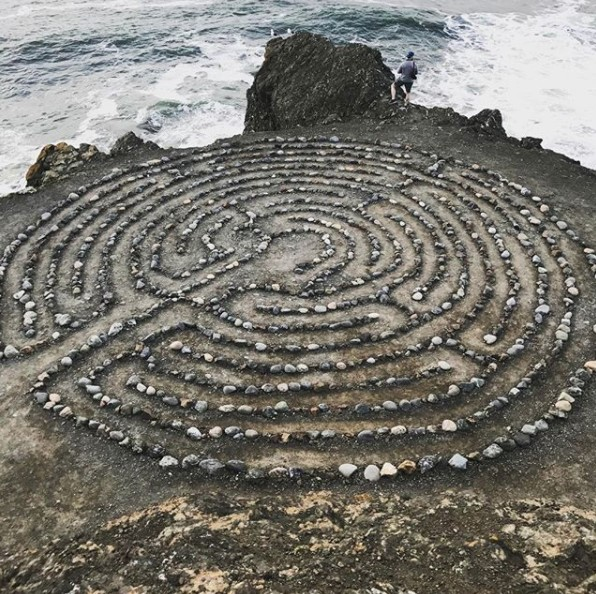 A natural labyrinth at Land's End in San Francisco